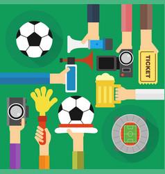 Concept soccer fan flat design vector