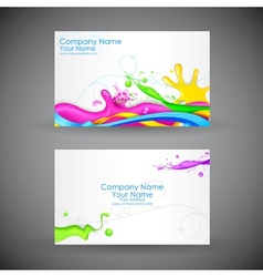 Corporate business card vector