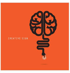 Creative brain concept design for poster vector