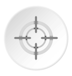 Crosshair icon flat style vector image vector image