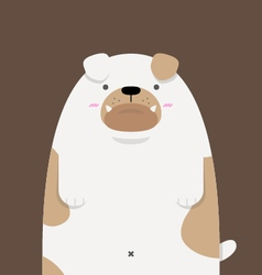 cute big fat Bulldog vector image vector image