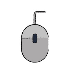 drawing mouse computer device office vector image