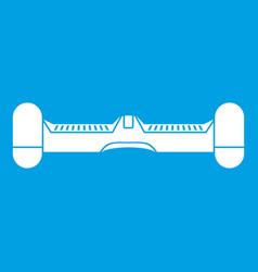Dual wheel self balancing electric skateboard icon vector