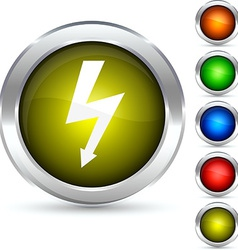 Flash button vector