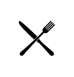 fork and knife restaurant icon vector image