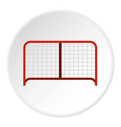 Hockey gate icon circle vector
