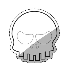 Isolated skull cartoon design vector image vector image
