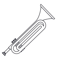Isolated trumpet instrument design vector image