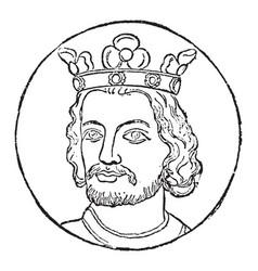 John of england vintage vector