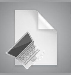 paper symbol computer vector image vector image