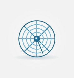 Radar creative icon vector