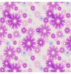 Seamless floral colored background Black and white vector image