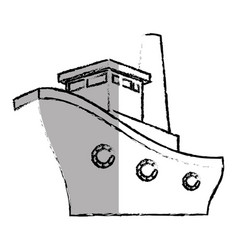 ship boat cruise icon vector image