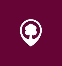 Tree location icon simple vector