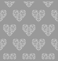 tribal heart shape ornament seamless vector image