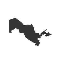 uzbekistan map outline vector image