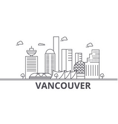 vancouver architecture line skyline vector image vector image