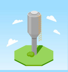 water tower building isometric vector image