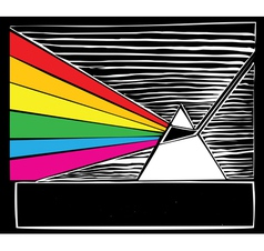 Woodcut prism vector