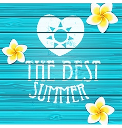 Wooden background Summer vector image