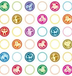zodiac signs retro pattern vector image vector image
