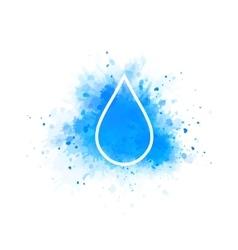 water splash and drop vector image