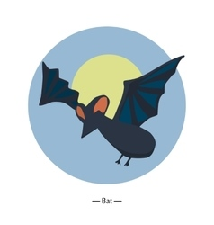 Symbol of the bat colorfull flat vector