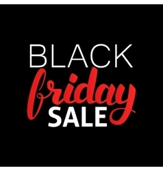 Black friday sale lettering vector