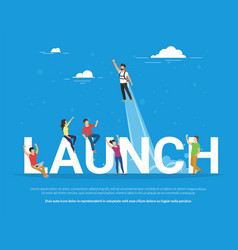 Startup launch concept of business vector