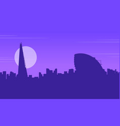 Silhouette of city hall london landscape vector