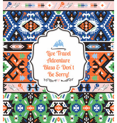 Tribal chic seamless colorful patterns vector