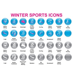 Wintersports icons2 vector