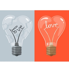 Love lightbulb in shape of heart vector