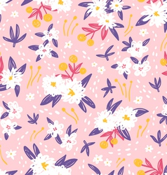Gorgeous vintage floral seamless pattern vector