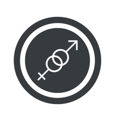 Round black gender sign vector