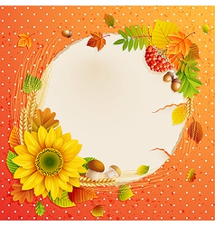 autumn vintage greeting card vector image