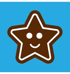 Flat icon on stylish background gingerbread vector