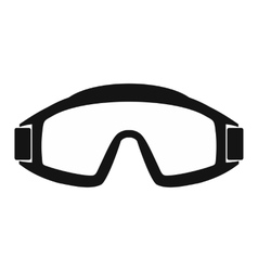 Paintball goggles simple icon vector