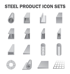 Steel product vector