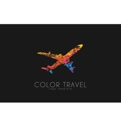 Airplane logo travel logo design plane logo vector