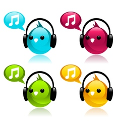Music Birds vector image