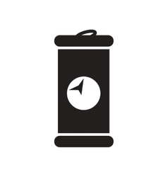 Flat icon in black and white style iron barrel vector