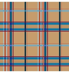 Tartan brown seamless pattern vector