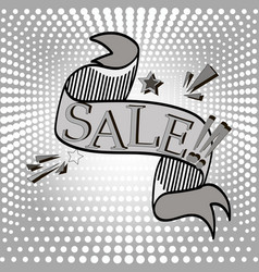 an inscription of a sale on a pop art background vector image vector image