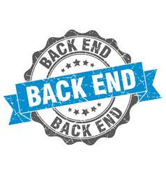 Back end stamp sign seal vector