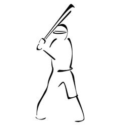 Baseball striker vector image vector image
