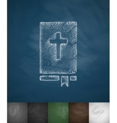 Bible icon hand drawn vector