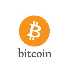 Bitcoin money icon crypto-currency coin vector