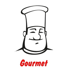 Cartoon smiling friendly chef vector image