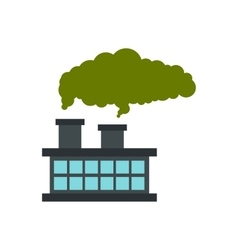 Chemical plant with cloud of smoke icon vector